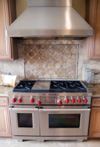 Gas stove with oven service